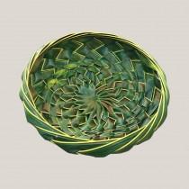 Hand Woven Coconut Leaf Basket - Medium